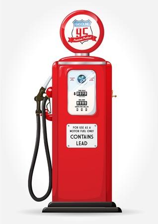 Illustration pour Gasoline pump retro design - image libre de droit