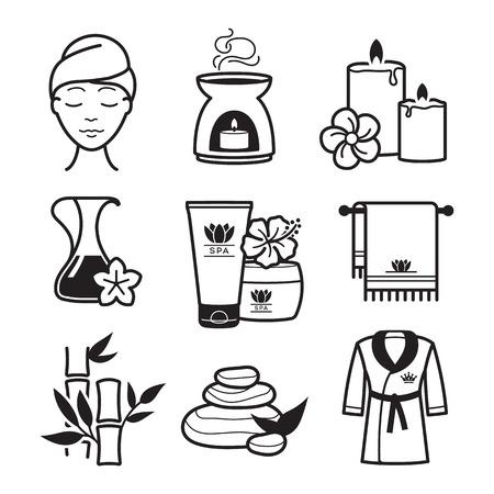 Illustration pour Spa and Wellness icons set - image libre de droit
