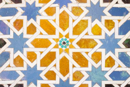 Photo for tile decorations in alhambra - Royalty Free Image