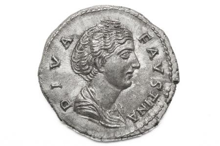 Photo for Roman silver coin, denarius - Royalty Free Image