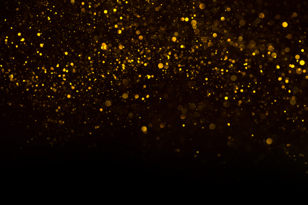Photo for Unique abstract gold dust rain bokeh background - Royalty Free Image
