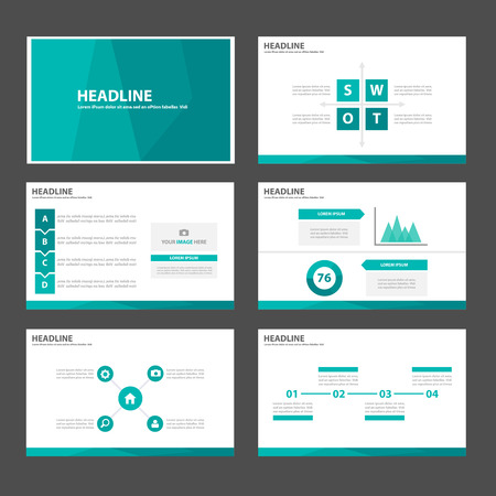Illustration pour Elegant Green Multipurpose Infographic elements and icon presentation template flat design set for advertising marketing brochure flyer leaflet - image libre de droit