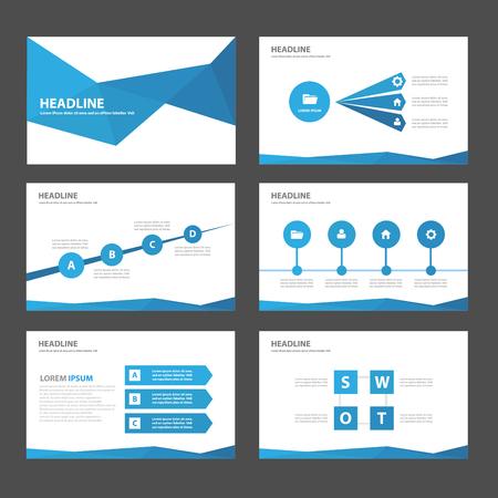 Illustration pour Blue Multipurpose Infographic elements and icon presentation template flat design set for advertising marketing brochure flyer leaflet - image libre de droit
