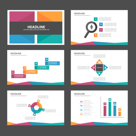 Illustration pour Purple blue yellow green Multipurpose Infographic elements and icon presentation template flat design set for advertising marketing brochure flyer leaflet - image libre de droit