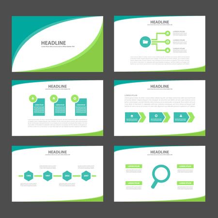 Ilustración de Two tone green Multipurpose Infographic elements and icon presentation template flat design set for advertising marketing brochure flyer leaflet - Imagen libre de derechos