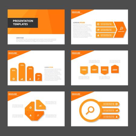 Illustration pour Orange Multipurpose Infographic elements and icon presentation template flat design set for advertising marketing brochure flyer leaflet - image libre de droit