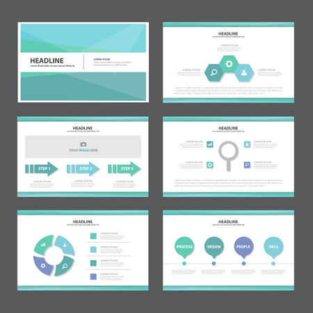 Ilustración de Blue Abstract presentation template Infographic elements flat design set for brochure flyer leaflet marketing advertising - Imagen libre de derechos