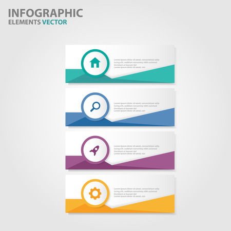 Illustration pour Colorful Label Infographic elements presentation templates flat design set for brochure flyer leaflet marketing advertising - image libre de droit