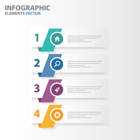 Illustration for Colorful Banner presentation templates Infographic elements flat design set for brochure flyer leaflet marketing advertising - Royalty Free Image