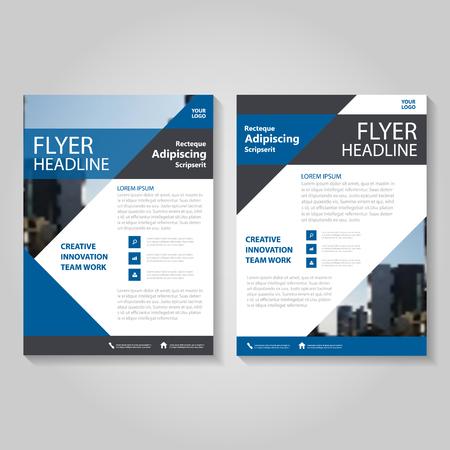 Illustration pour Triangle Blue Vector annual report Leaflet Brochure Flyer template design, book cover layout design, Abstract blue presentation templates - image libre de droit