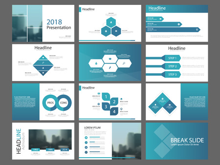 Ilustración de Bundle infographic elements presentation template. business annual report, brochure, leaflet, advertising flyer, corporate marketing banner - Imagen libre de derechos