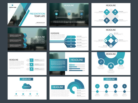 Ilustración de Blue Bundle infographic elements presentation template. business annual report, brochure, leaflet, advertising flyer, corporate marketing banner - Imagen libre de derechos