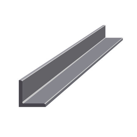 Illustration for Rolled steel angle. Vector illustration isolated on white background - Royalty Free Image