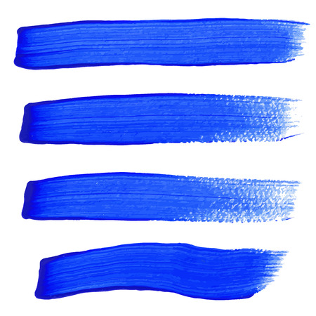 Illustration pour Blue ink vector brush strokes - image libre de droit