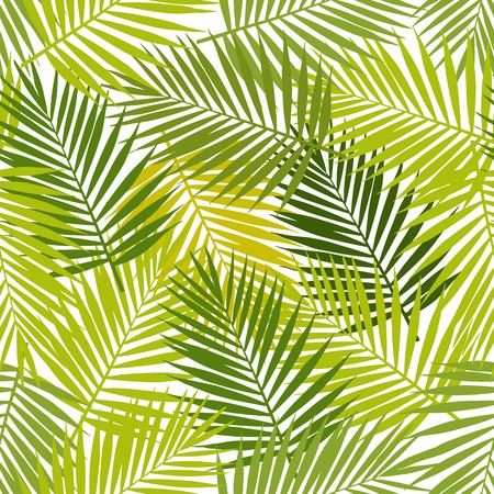 Illustration pour Palm leaf silhouettes seamless pattern. Vector illustration. Tropical leaves. - image libre de droit