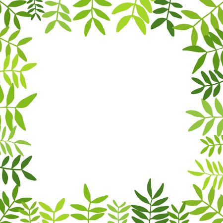 Illustration pour Branches with green leaves. - image libre de droit