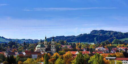 Foto de Aerial view of Kempten one of the oldest cities in Germany - Imagen libre de derechos