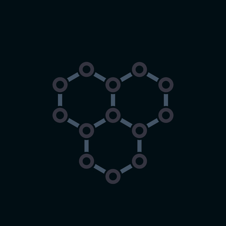 Illustration pour graphene icon, atomic carbon structure - image libre de droit