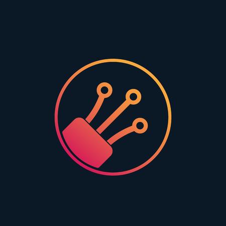Illustration pour optical fiber vector logo - image libre de droit