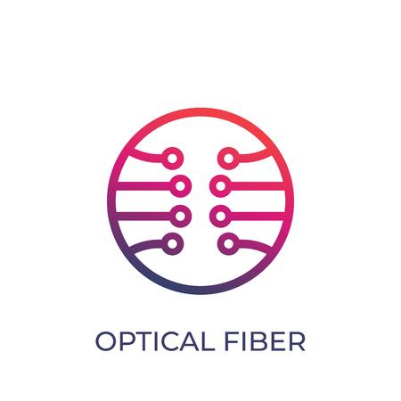 Illustration pour Optical fiber vector icon on white background. - image libre de droit