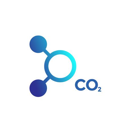 Illustration pour CO2 molecule icon on white background. - image libre de droit