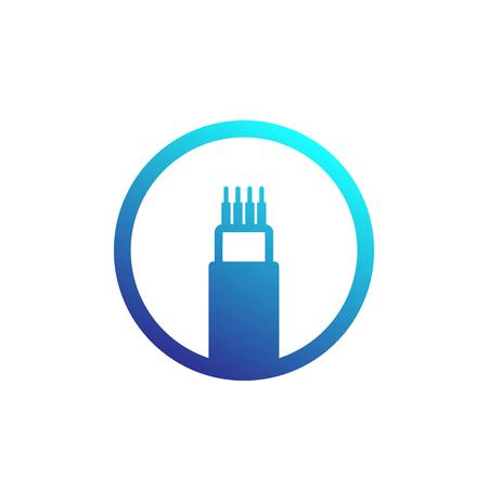 Illustration pour optic cable, bandwidth vector icon - image libre de droit