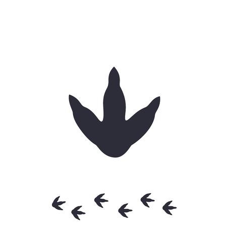 Ilustración de dinosaur footprint vector icon on white - Imagen libre de derechos