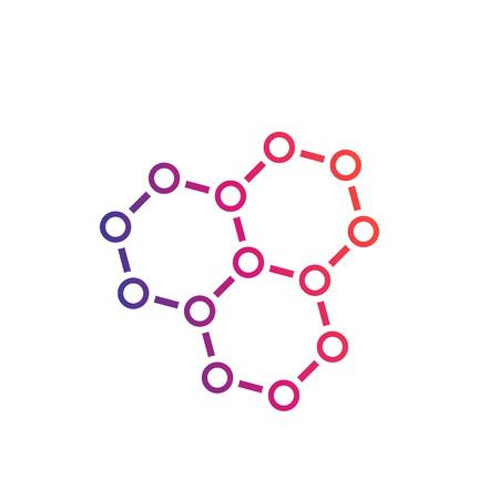 Illustration pour chemical compound, graphene, atomic carbon structure vector - image libre de droit