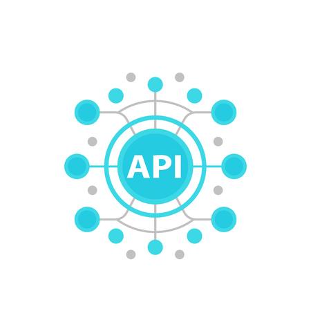 Illustration pour API, application programming interface vector illustration - image libre de droit