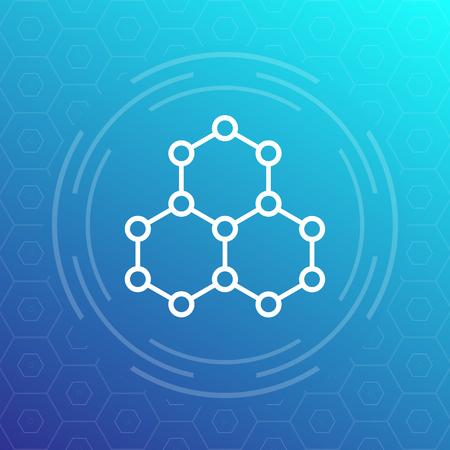 Illustration pour graphene, atomic carbon structure - image libre de droit