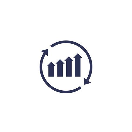 Illustration pour continuous growth icon - image libre de droit