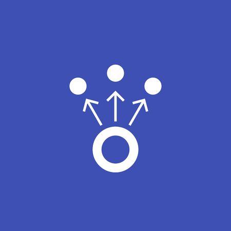 Ilustración de dispersion, vector sign - Imagen libre de derechos