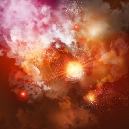 Photo for Cosmic clouds of mist on bright colorful backgrounds - Royalty Free Image