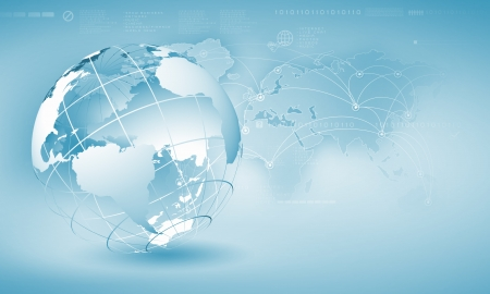 Foto de Blue digital image of globe  Background image - Imagen libre de derechos