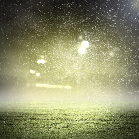 Photo for Image of stadium in lights and flashes - Royalty Free Image
