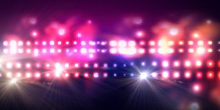 Foto de Background image of stage in color lights - Imagen libre de derechos