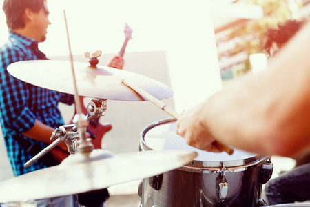Photo for A street muscian playing drums - Royalty Free Image