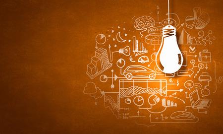 Photo pour Concept of business ideas and strategy on color background - image libre de droit