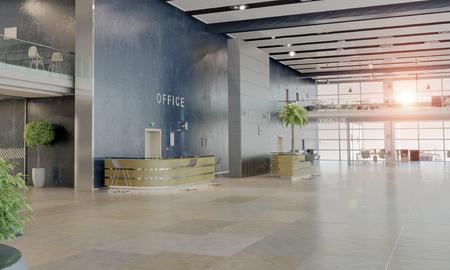 Foto de Modern empty office interior as design sample - Imagen libre de derechos