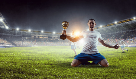 Photo pour He is the champ . Mixed media - image libre de droit