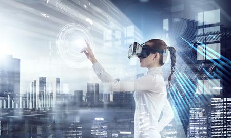 Photo pour Most impressive entertainment technologies. Mixed media - image libre de droit