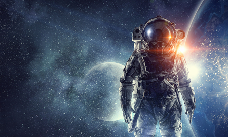 Photo pour Astronaut in space suit - image libre de droit