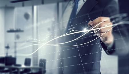 Photo pour Dynamics of market growth - image libre de droit