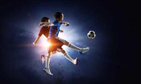 Photo pour Little soccer champion. Mixed media - image libre de droit