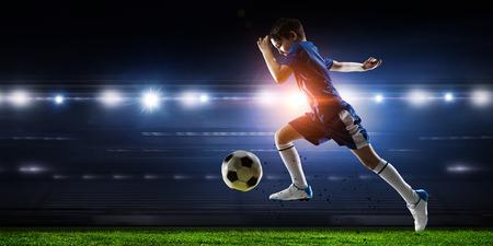 Foto für Little soccer champion. Mixed media . Mixed media - Lizenzfreies Bild