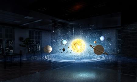 Photo pour Science research laboratory. Mixed media - image libre de droit