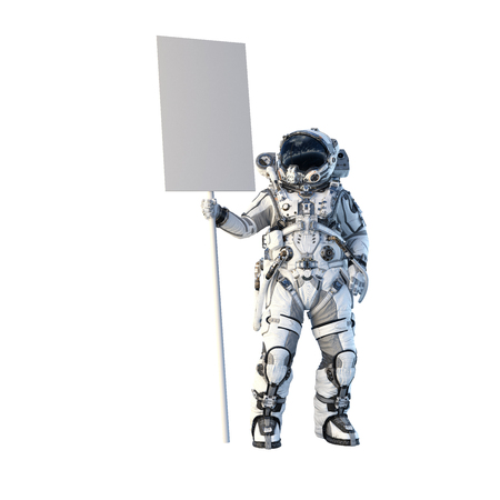 Foto de Astronaut on white. Mixed media - Imagen libre de derechos