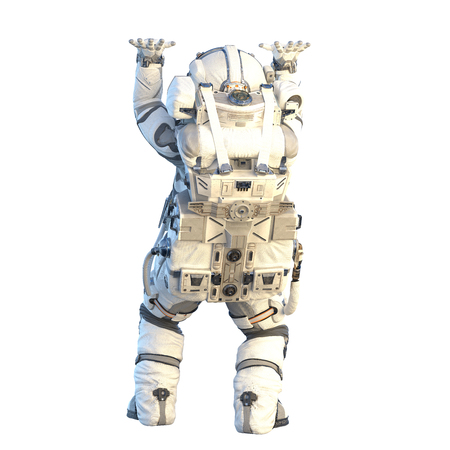 Photo for Astronaut on white. Mixed media - Royalty Free Image