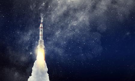 Photo for Rocket space ship . Mixed media - Royalty Free Image