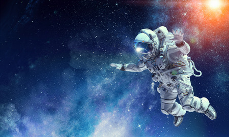 Foto de Astronaut on space mission. Mixed media - Imagen libre de derechos